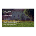 yellow Provencal mas near Carpentras in field of s Double-Sided Standard Business Cards (Pack Of 100)