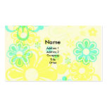 YELLOW PSYCHEDELIC FLOWERS BUSINESS CALLING CARDS BUSINESS CARD