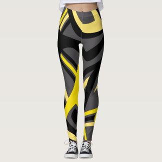 Yellow Puff Leggings