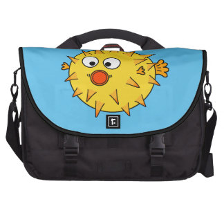 Yellow Puffer Fish Commuter Bags