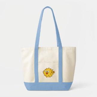 Yellow Pufferfish Impulse Tote Bag