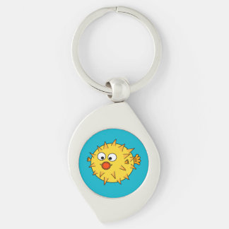 Yellow Pufferfish Keychain