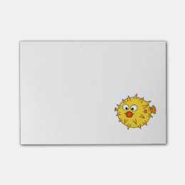 Yellow Pufferfish Post-it Notes