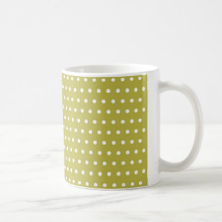yellow pünktchen polka dots hots scores dab krei coffee mug