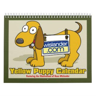 Yellow Puppy Calender 2011 Calendar