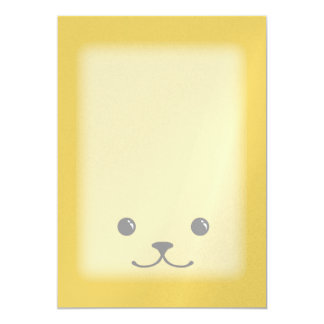 Yellow Puppy Cute Animal Face Design Card