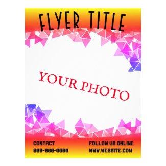 Yellow Purple & 10 TEMPLATE PAD Flyer