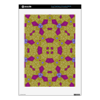 Yellow Purple Abstract Pattern Skins For PS3 Console