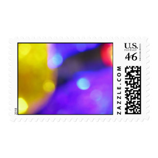 Yellow Purple and red Abstract Postage