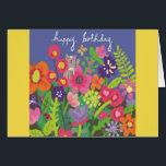 "Yellow &amp; Purple Birthday Card<br><div class=""desc"">Yellow &amp; Purple Birthday Card</div>"