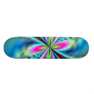 Yellow-Purple-Blue Glowing Wings Skateboard