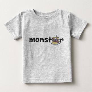 Yellow Purple Cartoon Monster No.39 Baby T Shirt