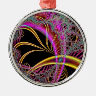 Yellow-Purple Dreamscape Metal Ornament