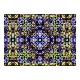 Yellow Purple Fractal Electricity Card