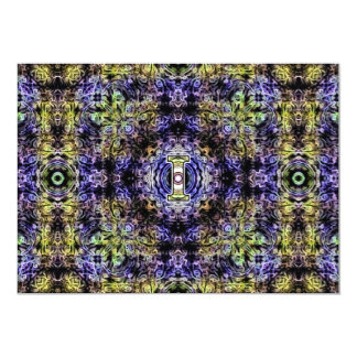 Yellow Purple Fractal Electricity I Card