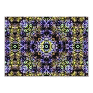 Yellow Purple Fractal Electricity O Card