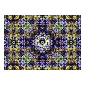 Yellow Purple Fractal Electricity Q Card