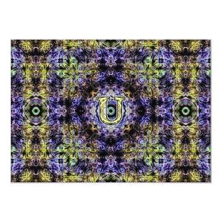 Yellow Purple Fractal Electricity U Card