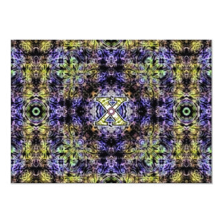 Yellow Purple Fractal Electricity X Card
