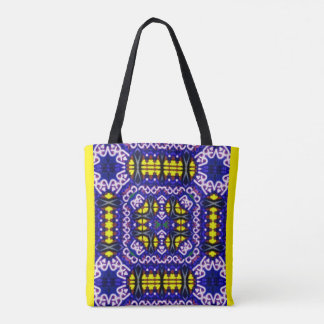 Yellow Purple It's Complicated  Symmetrical Shapes Tote Bag