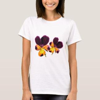 Yellow Purple Johnny Jump Up Flowers Shirt