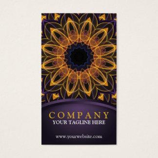 Yellow Purple Lotus Mandala Business Card