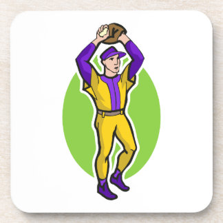 yellow purple pitcher coaster