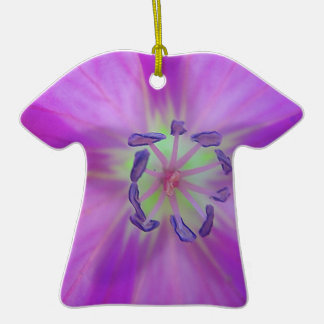 Yellow-purple plant star with bloom stamps ornament