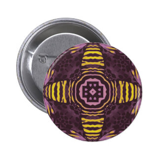 Yellow Purple Zebra Pinback Button
