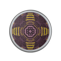 Yellow Purple Zebra Speaker