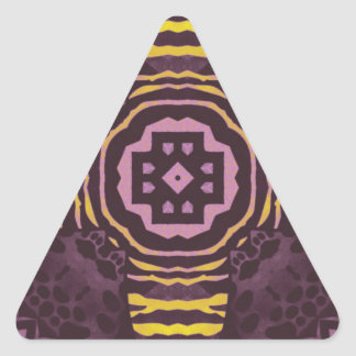 Yellow Purple Zebra Triangle Sticker