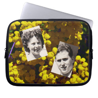 Yellow Purse Flowers Laptop Sleeves