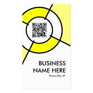 yellow QR code and logo target Double-Sided Standard Business Cards (Pack Of 100)
