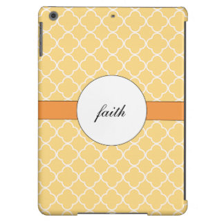 Yellow Quatrefoil Pattern Case For iPad Air