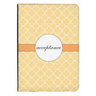 Yellow Quatrefoil Pattern Kindle Touch Cover