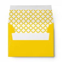 Yellow Quatrefoil Pattern Envelope