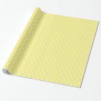 Yellow Quatrefoil Pattern Gift Wrap