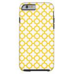 Yellow Quatrefoil Pattern iPhone 6 Case