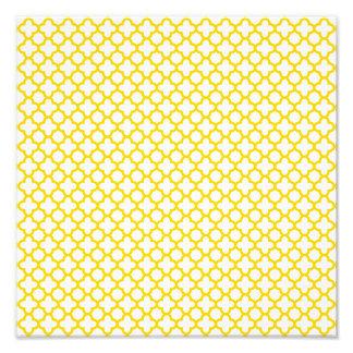 Yellow Quatrefoil Pattern Photo Print