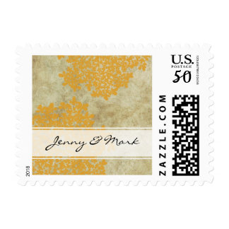 Yellow Queen Ann's Lace Vintage Wedding Postage
