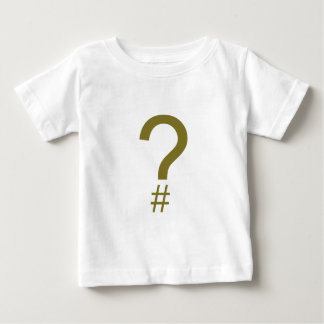 Yellow Question Tag/Hash Mark Baby T-Shirt