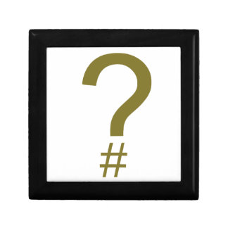 Yellow Question Tag/Hash Mark Gift Box