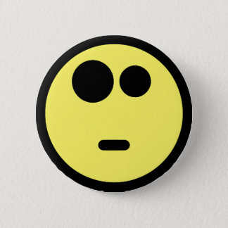 Yellow Questioning Smiley Face Button