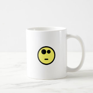 Yellow Questioning Smiley Face Coffee Mug