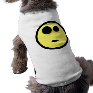 Yellow Questioning Smiley Face Dog T-shirt