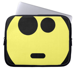 Yellow Questioning Smiley Face Laptop Computer Sleeve