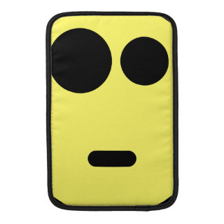Yellow Questioning Smiley Face MacBook Sleeve