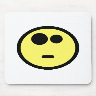 Yellow Questioning Smiley Face Mouse Pads