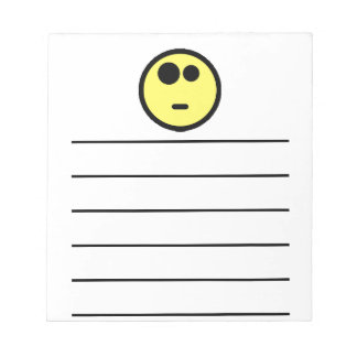 Yellow Questioning Smiley Face Note Pad
