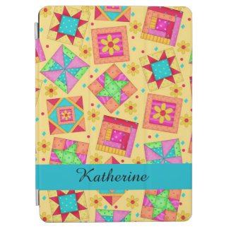 Yellow Quilt Patchwork Block Name Personalized iPad Air Cover